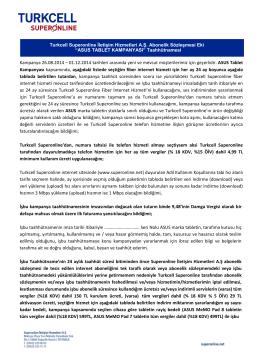 Asus Tablet Kampanyası Taahhütnamesi