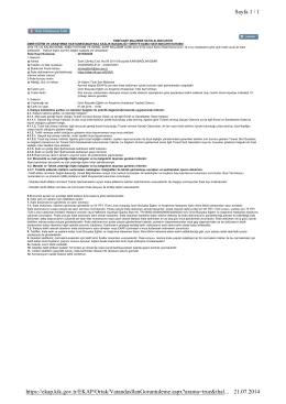 Sayfa 1 / 1 21.07.2014 https://ekap.kik.gov.tr/EKAP/Ortak