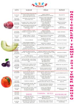 temmuz 2014 yemek listesi
