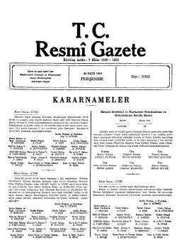 T. C. Resmî Gazete
