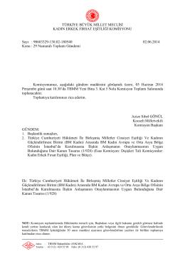 29. Toplanti Gündemi - Türkiye Büyük Millet Meclisi