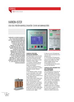VARKON-15TCR - Elektrik Dergisi