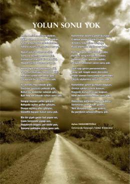 Yolun Sonu Yok (Şiir) Ayhan NASUHBEYOĞLU