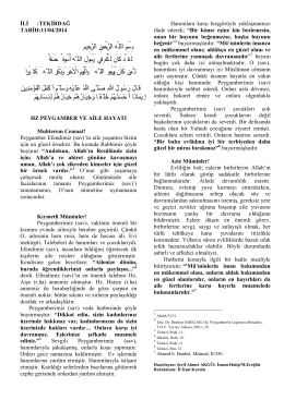 11/04/2014 nisan ayı hutbe
