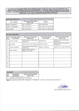 teog 2014/2015-1 görevlendirmeler