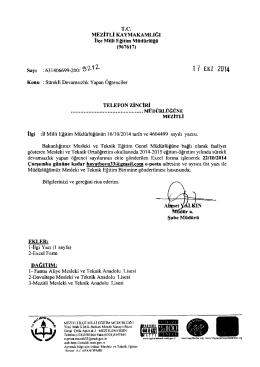 1 7 EKİ 2014 - mersin - mezitli ilçe millî eğitim müdürlüğü