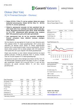 Otokar (Not Yok) - Garanti Yatırım