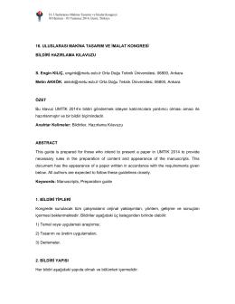 bildiri hazırlama kılavuzu (pdf dosyası).