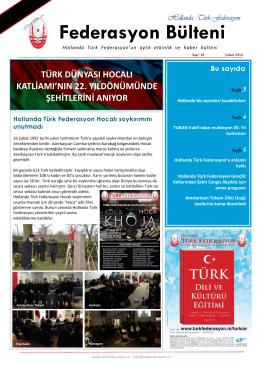 Federasyon Bülteni - Hollanda Türk Federasyon