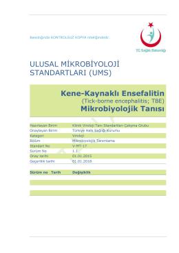 Kene kaynaklı ensefalitin - Türkiye Halk Sağlığı Kurumu