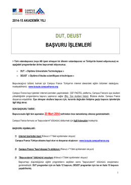 BASVURU ISLEMLERI_DUT DEUST 2014