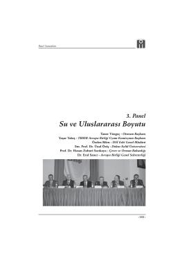 3. Panel: Su ve Uluslararası Boyutu