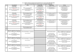 Yüksek Lisans Ders Programı - Gebze Yüksek Teknoloji Enstitüsü