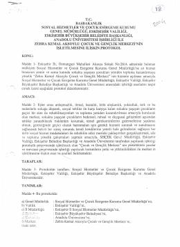 eskişehir büyük şehir bld.bşk. ve andolu ünv. işbirliği protokolu