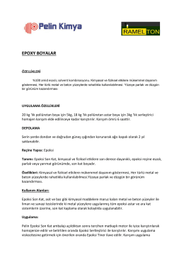EPOXY BOYALAR - Pelin Kimya