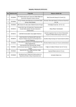 Verimli ve Temiz Enerji Mali Destek Programı (İşletmeler) (EVI)