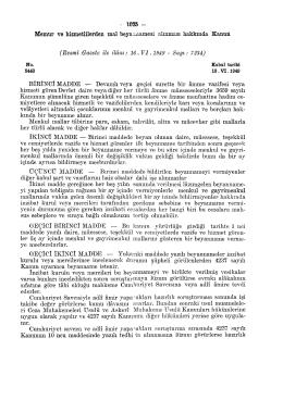 Resmî Gazete ile ilâm: 16. VI .1949 - Sayı: 7234