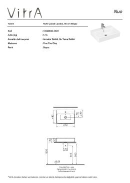 Tanım NUO Çanak Lavabo, 60 cm Beyaz Kod :4432B003