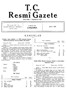 KANUNLAR - Resmi Gazete