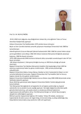 Mehmet Nur Altınörs - Türk Nöroşirürji Derneği