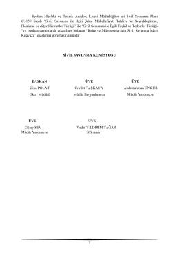 Sivil Savunma Ekipleri - Milli Eğitim Bakanlığı