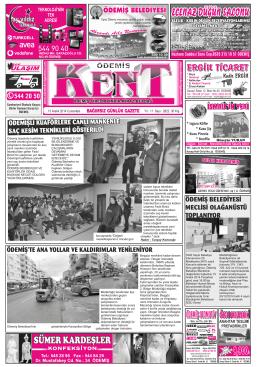 13-12-2014 Tarihli Kent Gazetesi