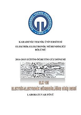 karadeniz teknik üniversitesi elektrik