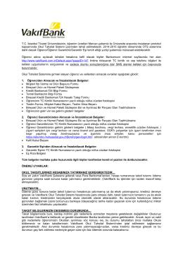 T.C. İstanbul Ticaret Üniversitesinin, öğrenim ücretleri Mercan