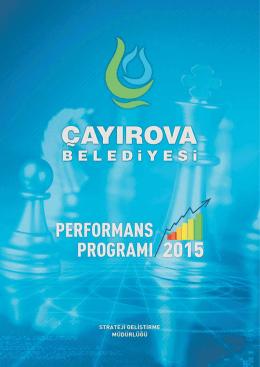 2015 Performans Programı (PDF)