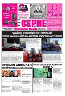 12.08.2014 Tarihli Cephe Gazetesi