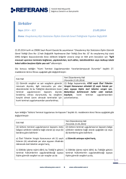 2014 - 023 Onaylanmış Kişi Statüsüne İlişkin