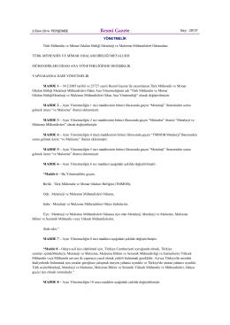 Türk Mühendis ve Mimar Odaları Birliği Metalurji Mühendisleri Odası