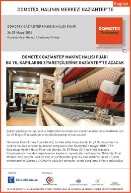 Domotex Gaziantep Makine Halısı Fuarı bu yıl kapılarını