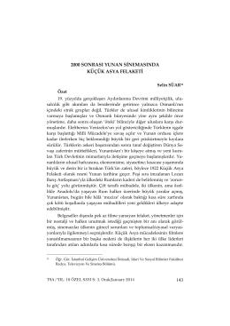 Full Text (PDF) - Türkiye Sosyal Araştırmalar Dergisi