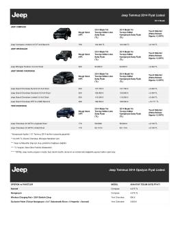 Jeep Temmuz 2014 Fiyat Listesi Jeep Temmuz 2014