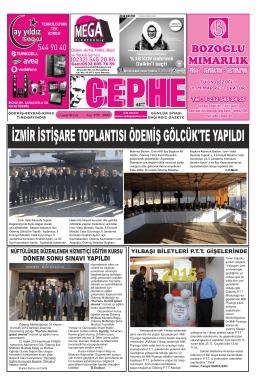 23.12.2014 Tarihli Cephe Gazetesi