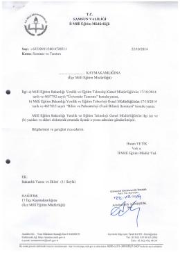 Seminer Üst Yazı(İNDİR) - Terme İlçe Milli Eğitim Müdürlüğü