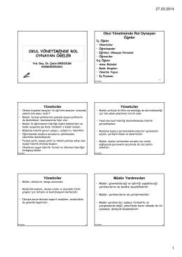 H6-Okul Yönetiminde Rol Oynayan Öğeler