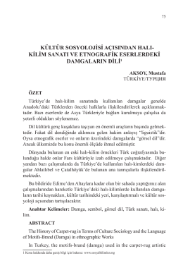 AKSOY, Mustafa-KÜLTÜR SOSYOLOJİSİ AÇISINDAN HALI