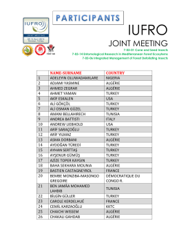 joınt meetıng - IUFRO JOINT MEETING
