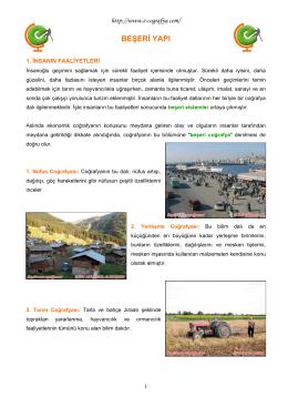 beşeri yapı - cografyalise.com