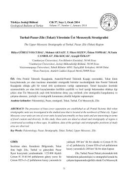 Turhal-Pazar-Zile (Tokat) Yöresinin Üst Mesozoyik Stratigrafisi
