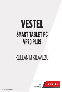vestel smart tablet pc wıfı vp70 plus
