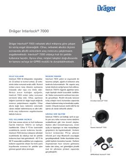 Ürün bilgileri: Dräger Interlock® 7000