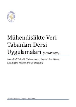 Lab-2 PDF dosyası - İstanbul Teknik Üniversitesi
