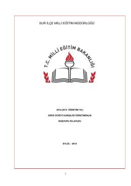 Basvuru Klavuzu - Sur İlçe Milli Eğitim Müdürlüğü