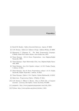 Bölüm 20 : Bibliography