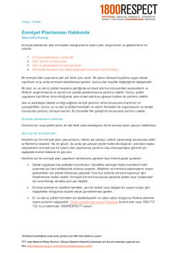 PDF - Emniyet Planlaması Hakkında