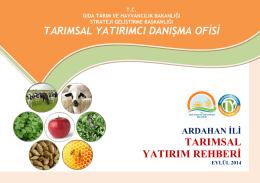 ardahan - TC Gıda Tarım ve Hayvancılık Bakanlığı