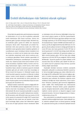Erektil disfonksiyon risk faktörü olarak epilepsi
